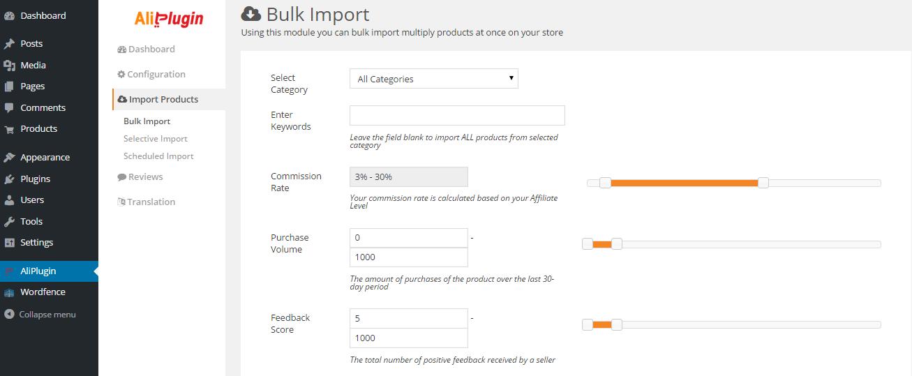 Aliplugin Import Function