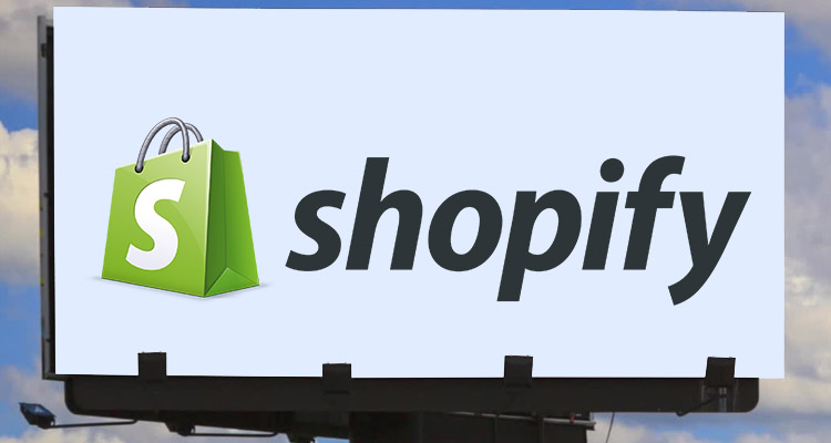 Logo of an e-Commerce company, Shopify